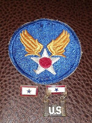 WW2 US Military Army Air Corps Patch And Homefront Pins Single Star
