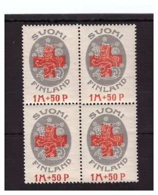 FINLAND Scott # B1a (Perf 13 x 13.5) MINT / VF / NH BLOCK OF FOUR;  SCV $90.00