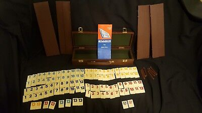 Vintage Pressman Tournament Rummikub Sabra Way Game w/ Leather Look Carry Case
