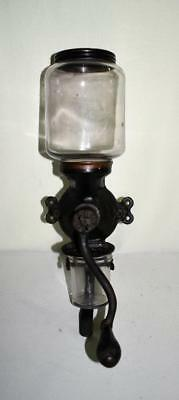 Antique Cast Iron Enterprise Mfg. Co. Wall Mount Coffee Grinder No. 100 W/cup