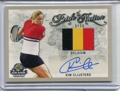 2018 Leaf Signature Series Kim Clijsters Pride of the Nation Auto Silver 5/20