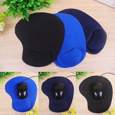 New Gel Mouse Mat Pad With Rest Wrist Comfort Support Laptop PC Anti Slip DT