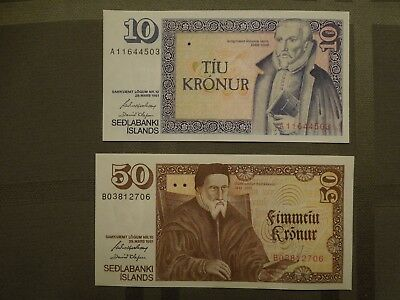 ICELAND BANK NOTES in perfect, uncirculated, condition for your collection.