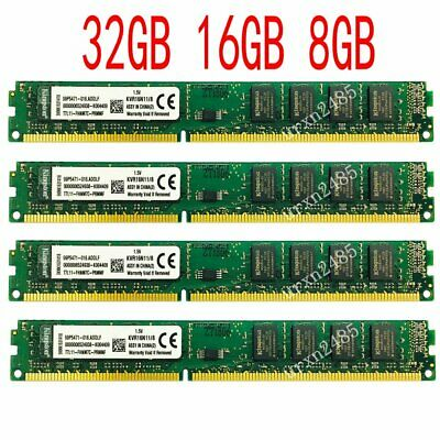 32GB 16GB 8GB DDR3-1600 PC3-12800 Intel CPU Dual Channl Speicher Für Kingston DE