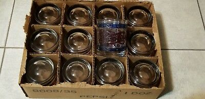 12 Vintage Pepsi Cola Tiffany Style Raised Stained Glass 10 Oz. Glasses - New!