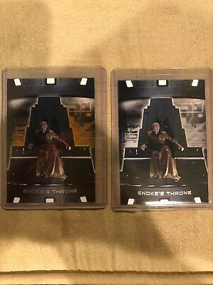 STAR WARS TOPPS The Last Jedi Series Snoke's Throne Gold Silver /50 /25 Lot