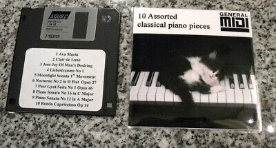 10 Assorted Yamaha Classical music pieces for  PianoSoft  DISKLAVIER & Others