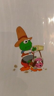 Muppet Babies Animation Cel Kermit and Animal