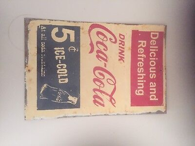 Coca-Cola Bottle Metal Tin Sign Bar Shed & Man Cave. A4 Paper Size