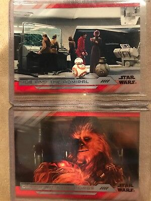 STAR WARS TOPPS The Last Jedi Parallel Lot /25 Dinner With Porgs Poe Admiral