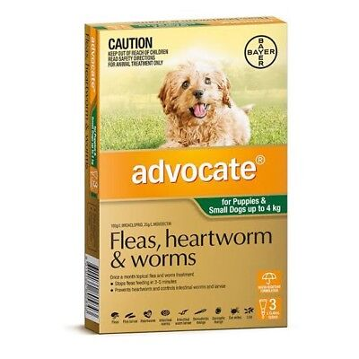 Advocate For Small Dogs And Puppies Up To 4kg 6 Pack Brand New