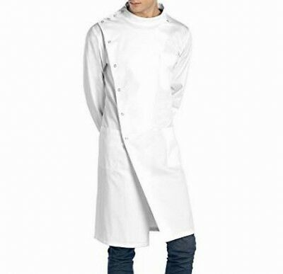 Doctor James NEW White Unisex USA Size Medium M Button-Down Solid Lab Coat #503