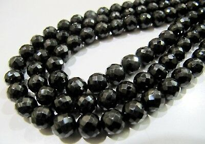 5to100 STRANDS 2-2.5 MM13/'/' NATUARL GEMSTONE BLACK SPINEL ROUND FACETED BEADS