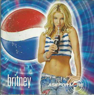 Britney Spears - Ask For More 2001 Right Now Pepsi Promo Cd Enhanced Card Sleeve