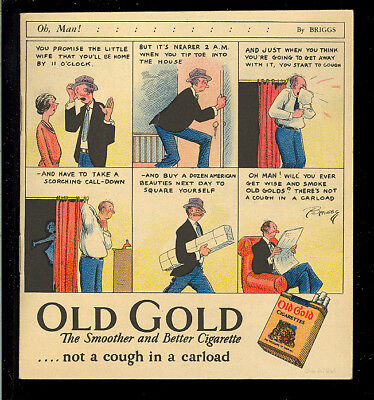 Old Gold Cigarettes #nn SCARCE Platinum Age Promo Comic Rare 1927 FN+