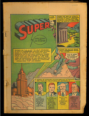 Action Comics #42 Coverless Golden Age Superman DC Comic 1941
