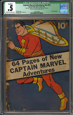 Captain Marvel Adventures #nn (#1) RARE Shazam Fawcett Comic 1941 CGC .5