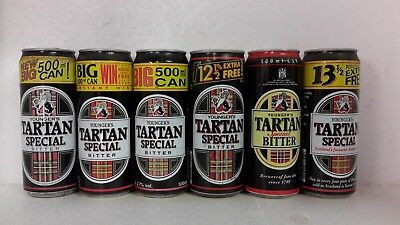 500ml Aluminium Tartan Special Bitter Beer Cans from Youngers in UK