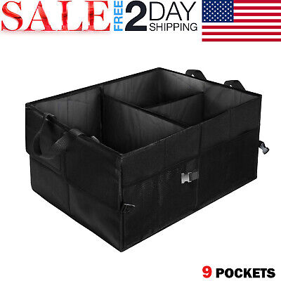 Car Trunk Organizer Cargo Suv Truck Storage for Groceries Folding Collapsible