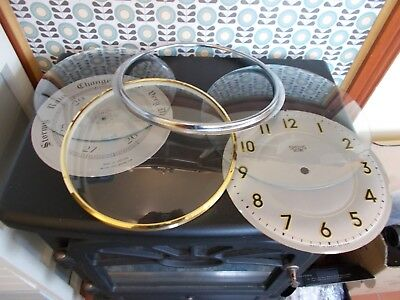 Job Lot, Convex Clock Glasses, Bezels, Dials, Spares