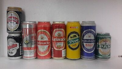 8 Different Beer Cans from Croatia