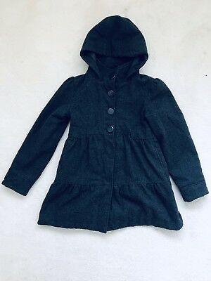 Girls Charcoal Grey Long Coat Age 11-12 Years From M&S