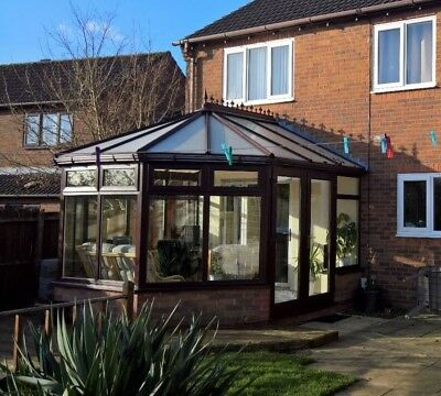 Used double glazed UPVC conservatory - very good condition - BrownMahogany