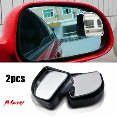 2 x Blind Spot Car Mirror 360° Wide Angle Adjustable Rear View Convex Glass RE