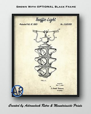 1960 Traffic Light Patent Art Print  -  Vintage Traffic Signal Patent Art