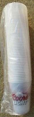 Coors Light Beer Sleeve Of 50 New 16 oz Plastic Cups 2 Sided Sealed Party