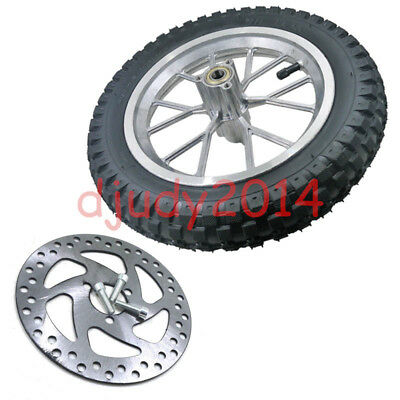 12.5X2.75 Front Electric Motorcycle Bike Scooter Wheel Rim Tyre Disc Rotor Bolt