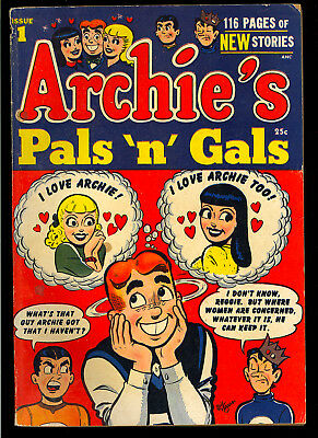 Archie's Pals 'n' Gals #1 Nice First Issue Betty Veronica Giant Comic 1952 GD-VG