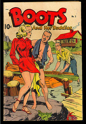 Boots and Her Buddies #5 (#1) Nice First Issue Good Girl Standard Comic 1948 VG