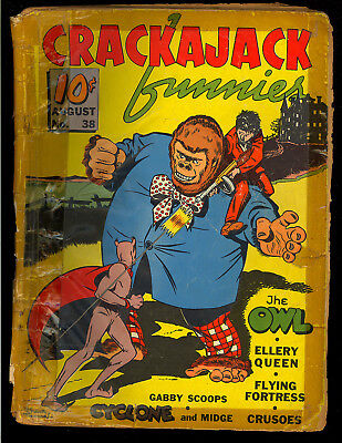 Crackajack Funnies #38 Scarce Classic Giant Gorilla Cover Dell Comic 1941 FR-PR