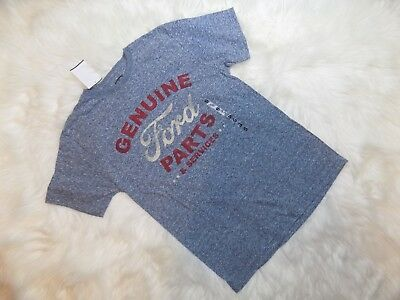 New Genuine Ford Parts and Services Tee T-Shirt Mens Womens Small S Navy Snow