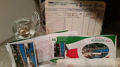 Vintage 1967 ACAPULCO Hilton Hotel Lot Post Cards Letter Head Advertising Lot