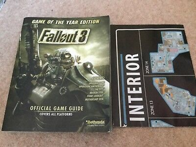 Fallout 3 Game Of The Year Edition, Official Prima Strategy Guide, with Map