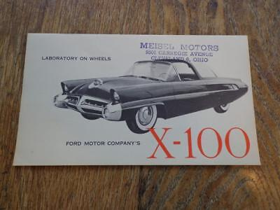 1954 Ford Motor Company's X - 100 Concept Brochure