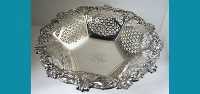 sterling silver BOWL piersed design with Rim in EMPIRE style by GORHAM