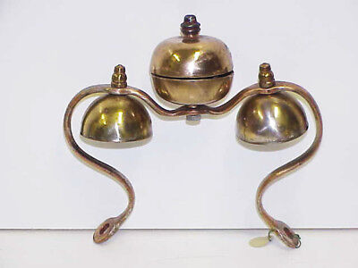 Russian 3 Brass Bell Set Horse Collar Saddle Harness Sleigh Carriage Chimes