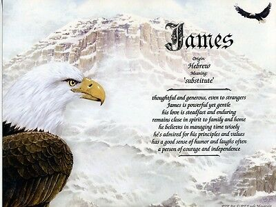 """""""Eagle Mountain"""" Name Meaning Print Personalized (Birds Patriotic Inspirational)"""