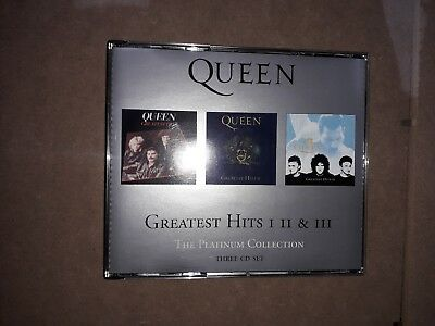 Queen The Greatest Hits 1 2 & 3 Platinum Collection Cd Boxset Free Uk Postage