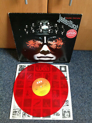 Judas Priest - Killing Machine CBS-Records 1978 Red Vinyl Rarität England-Import