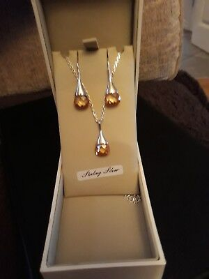 925 silver necklace and earrings