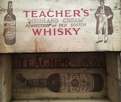 Vintage Teachers Whisky Presentation Box