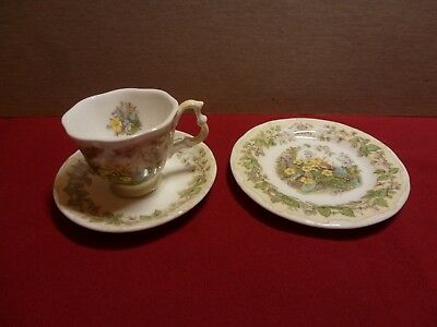 Brambly Hedge Miniature Tea Cup , Saucer and Plate Spring