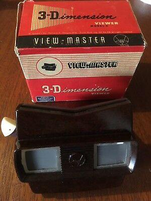 Vintage Sawyer's Boxed Brown Bakelite View-Master Stereoscope 3D Picture Viewer
