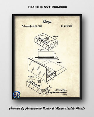 Soap Patent Art Print  -  Vintage Patent Drawing