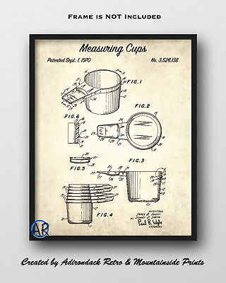 Measuring Cups Patent Art Print  -  Vintage Patent Drawing