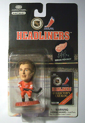 Headliners DETROIT RED WINGS, NHL014 FEDOROV Special Red Base Figure in Blister